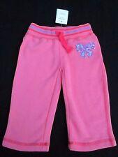 Baby girls Pumpkin Patch Size 0 fleece bow applique joggers  pants for  6-12mths
