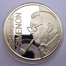 Belgium 10 Euro 2003 Silver coin proof Georges Simenon