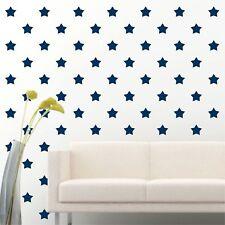 "84 of 4"" Navy Blue Star DIY Decor Removable Peel Stick Wall Vinyl Decal Sticker"