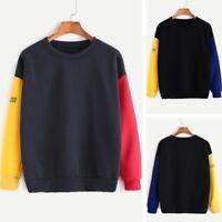 Fashion Plus Size Women's Long Sleeve Blouse Letter Print Sweatshirt Top T-shirt