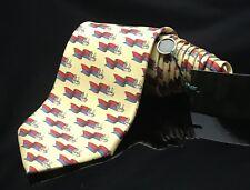 7acf9281bdac GUCCI Italy Men's Silk Flag's Blue Red Yellow Fashion Dapper Neck Tie NWT