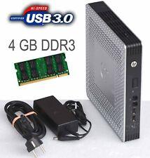 Thin Client HP T610 tpc-w006-tc 4GB DDR3 RAM USB 3.0 250 GB SATA Disco Fisso