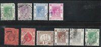 HONG KONG 1903 TO 1938 10 CANCELLED STAMPS AND REPRESENTING HISTORY