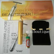 Beauty T-Bar 24K Golden Pulse Skin Care Facial Vibrating Massager made in Japan