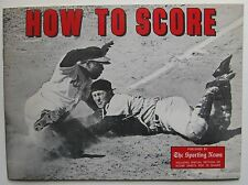 How To Score 1975 Baseball Score Book from The Sporting News; Hank Aaron