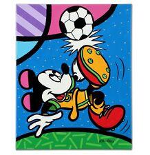 "Valter De Morais ""Mickey Soccer"" Signed- Original On Canvas - Disney~ Incredible"