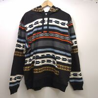 New Levis Mens White Black All Over Tribe Graphic Fleece Pullover Hoodie S-XXL