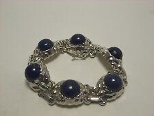 Georg Jensen Bracelet #57A  Lapis Lazuli Sterling Silver 925 - Mint