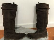 G-STAR Raw Brown Suede Leather Boots Cinch Riding Pirate Cowboy Foldover 10 41