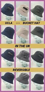 NEW Bucket Hat Mens UNISEX Reversible UCLA Casual Country Fishing Cap All in UK