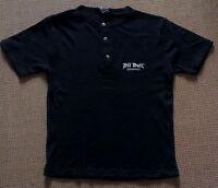 Pit Bull Germany T-Shirt Schwarz Knopfleiste Pit Bull-Logo gestickt Gr. M Neu