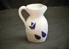 Vintage Williamsburg Art Pottery Small Salt Glazed Stoneware Pitcher Handcrafted