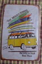 Camper Van VW Metal Sign Painted Poster Garage Superhero Wall Decor Art *