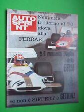 AUTOSPRINT 1971/36 TECNO LOLA ELFORD Amphicar Scola campione a Sud