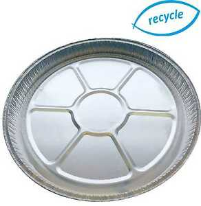 """8"""" Individual round foil flan dishes, quiche, pie, aluminium trays for baking"""