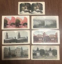 Vintage Stereoview Card Lot of 7 Norway - Christiana Horgheim Bergen Gorge