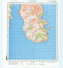 Russian Soviet Military Topographic Maps - WHITING BAY (UK,Scotland), ed.1985