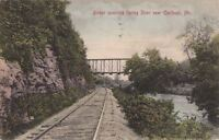 Postcard Bridge Spanning Spring River Near Carthage MO