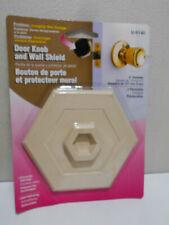 Lot of 6 Wall Protectors, 5-Inch Hexagon, Ivory U9140