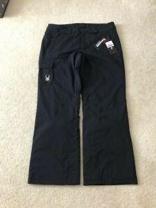 NWT Mens Spyder Troublemaker ski pant Size:  XXL-S (2XL-short), Black MSRP: $179