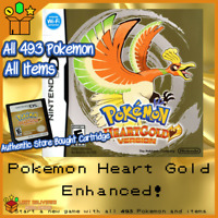 Unlocked Pokemon Heart Gold Enhanced - All 493 Shiny Pokemon, All Items! DS, 3DS