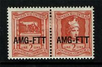 Italy AMG FTT Revenue 2 Lire Pair / Mint Hinged / Hinge Rem - S1757