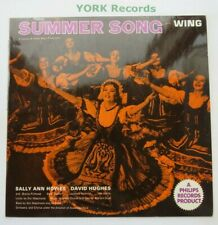 SUMMER SONG - Cast Recording - Excellent Condition LP Record Wing WL 1172
