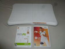 NINTENDO Wii FIT BALANCE BOARD & GAME LOT ACTIVE PERSONAL TRAINER BUNDLE