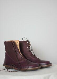 Trippen Purple Leather Boots Size 37