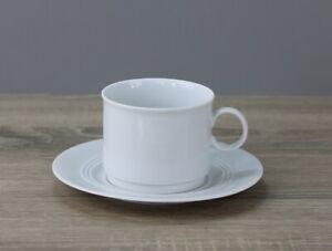 Friesland Jeverland 5900 weiß Kaffeetasse Tasse mit Untertasse stapelbar
