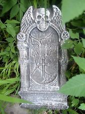 "080 Plastic Halloween Tombstone mold concrete plaster reusable 15"" x 8"" x 1"""