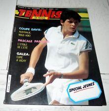 TENNIS FRANCE N°365 1983 COUPE DAVIS PARADIS FORGET LECONTE TULASNE COURTEAU