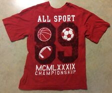 Children's Place Red All Sport T-shirt YM (8) Youth Medium Used Great Condition