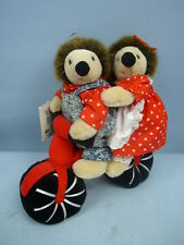 "Russ Berrie ""Willy & Willa"" Plush Hedgehogs On Bike #493"