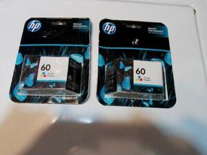 2 packages HP tri-color printer cartridge #60