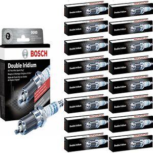 16 pcs Bosch Double Iridium Spark Plugs For 2006 BUGATTI VEYRON 16.4 W16-8.0L