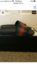 [US 10, UK 9] Gucci Men's Pinstriped Slides (Authentic) SS17 shoes