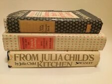 Mastering The Art of French Cooking Vol 1 & 2, Julia Child's Kitchen 3 Book Lot