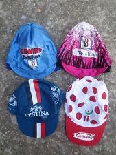 Lot 4 Casquette Bonnet cycliste Tour de FRANCE FESTINA TELEKOM GEWISS BALLAN cap