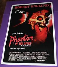 PHANTOM OF THE OPERA MOVIE POSTER ORIGINAL ONE SHEET ROBERT ENGLUND