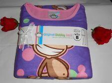 Original Bobby Jack Girls 2 Pc Fleece Pajama Set Purple 8 NWT