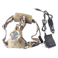 20000LM XM-L T6 LED 18650 Military Shadowhawk Headlamp Headlight+AC/DC Charger