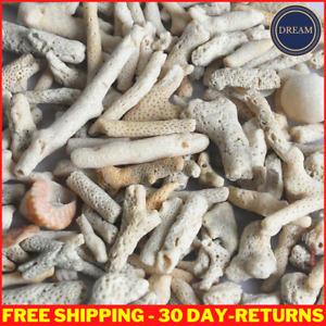 Natural Coral Bone Stone Sand Fish Tank Filter Media Marine Aquarium Fish Tank
