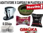 ADATTATORE TAZZISSIMA TRIO BIALETTI + 30 CAPSULE PLASTICA GIMOKA 32MM RISPARMIO