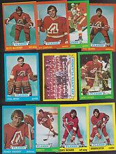 1973 / 74  Topps Team SET Lot of 11 Atlanta Calgary FLAMES NM QUINN MYRE