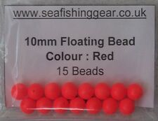Bag of 15, 10mm Floating Beads, (Foam Colour Red)