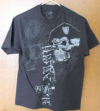 NEW Black Ink US Army Skull Beret Military Shirt Men's Size Medium M Med