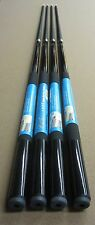 4 x Cuetec Black One Piece House Pool Cues 18-21oz w/ FREE Shipping