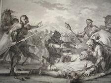 GRAVURE XVIIIe / COMBAT DE GUILLAUME CONTRE SON FILS AN 1076
