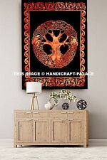 Handmade 100% Cotton Celtic Circle Wheel Of Life Tapestry Wall Hanging Throw